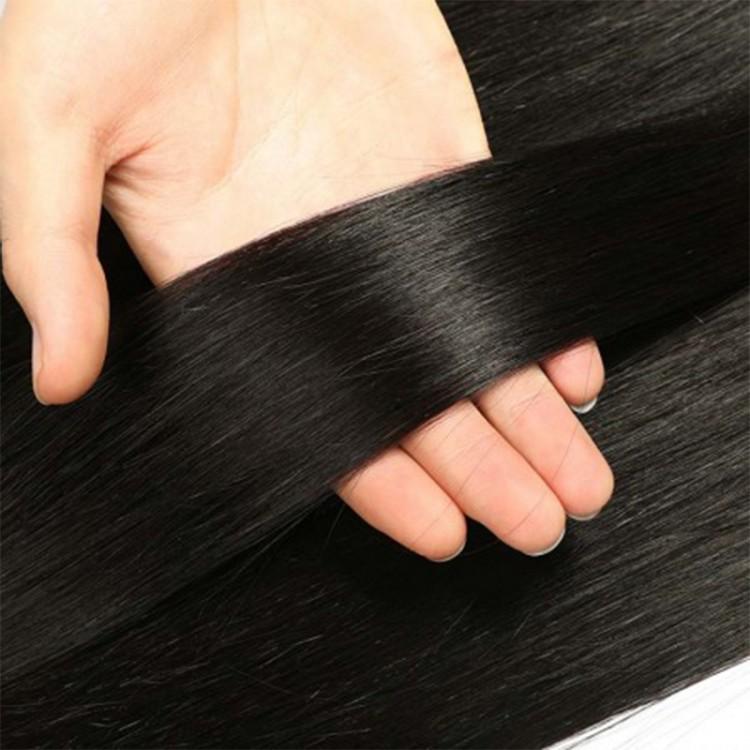 Malaysian Lace closure with virgin hair bundles