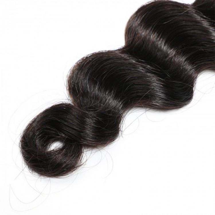 4 human hair bundles with closure