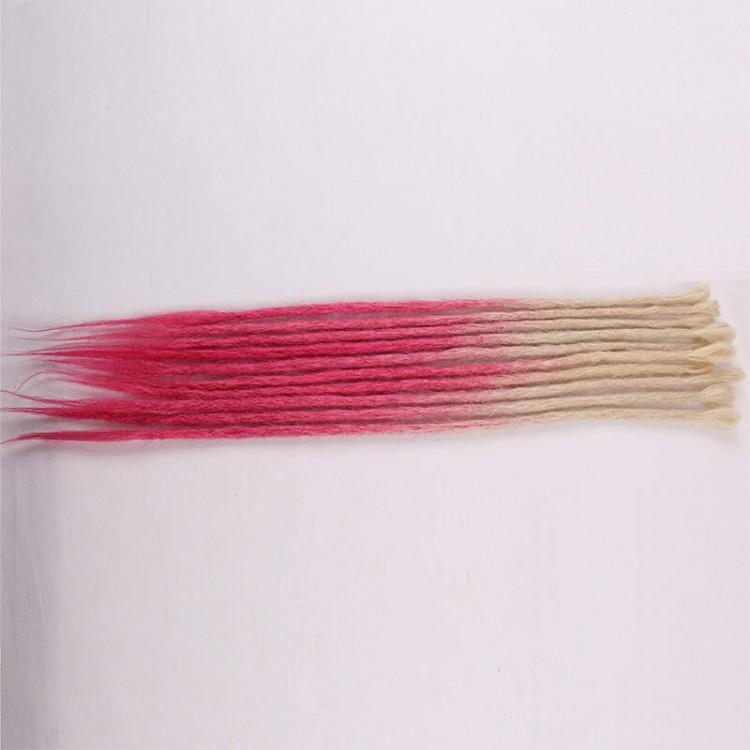 Blonde/Pink Synthetic Dreadlock