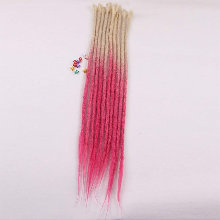 Blonde/Pink Synthetic Dreads