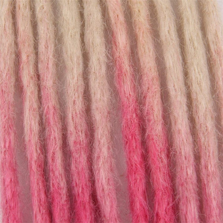 Blonde/Pink Synthetic Dreadlock extensions