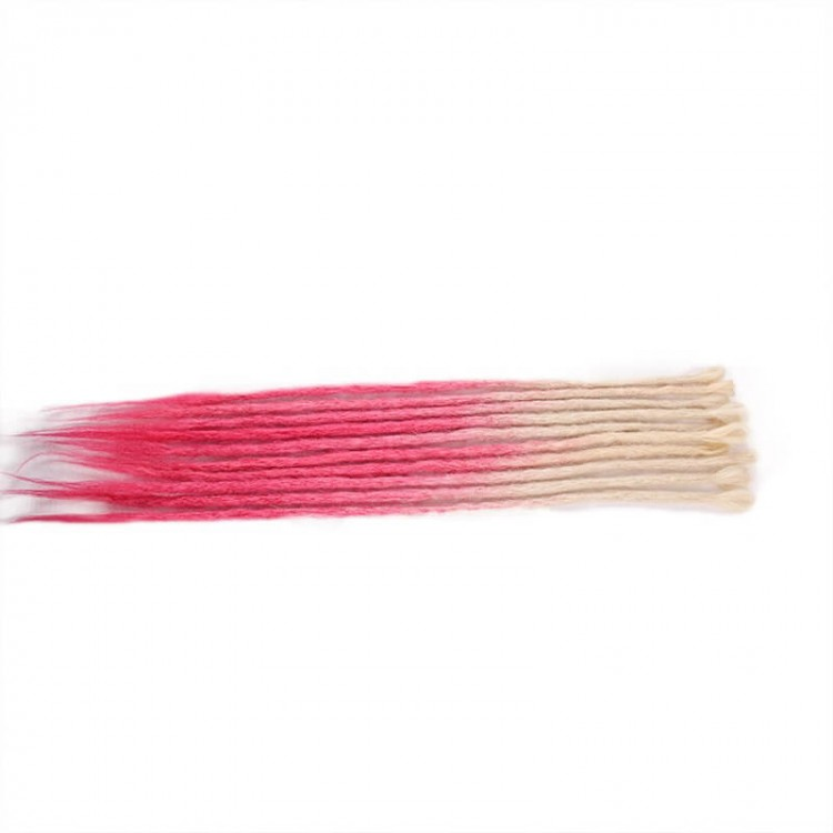 Blonde/Pink Synthetic Dreadlock extension