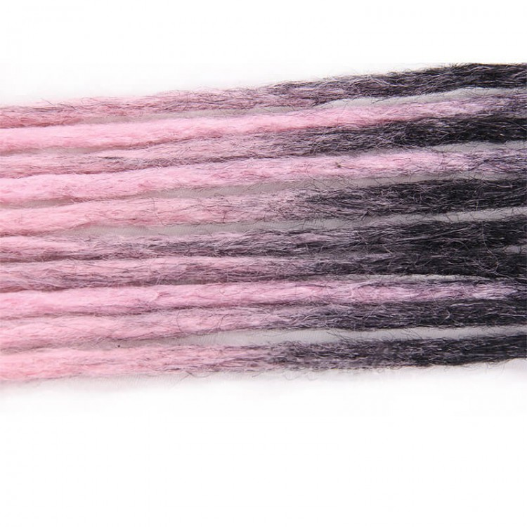 Black/Pink Synthetic Dreadlock extensions