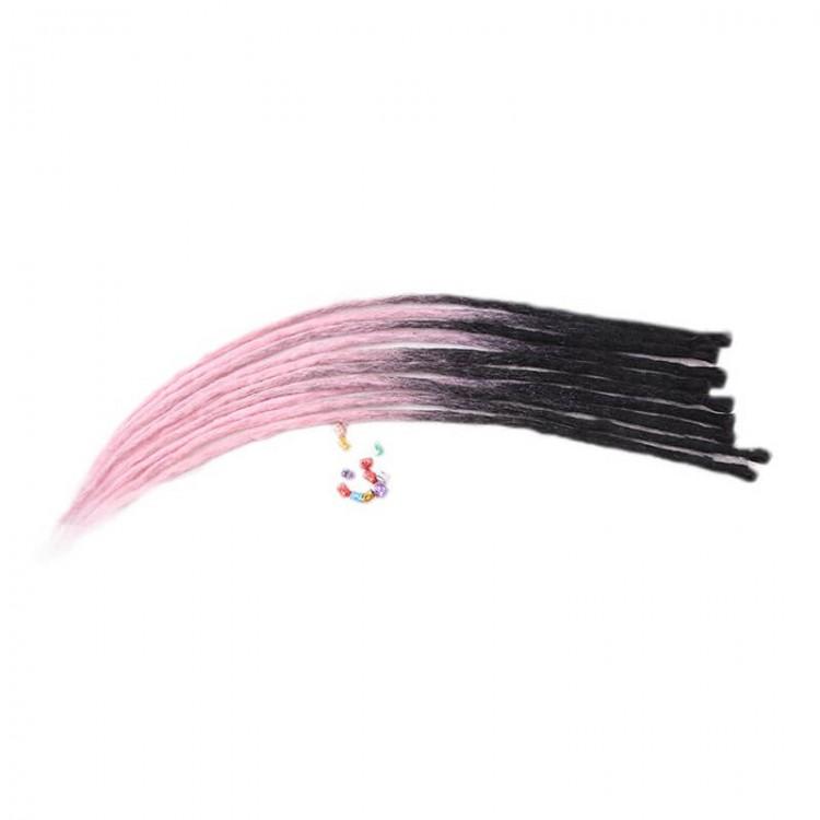 Black/Pink Synthetic Locks