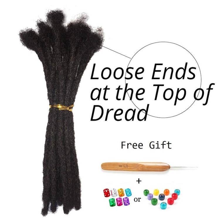 100% human hair dreadlock extensions