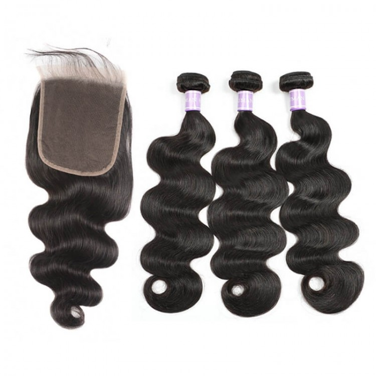 body wave hair with lace closure