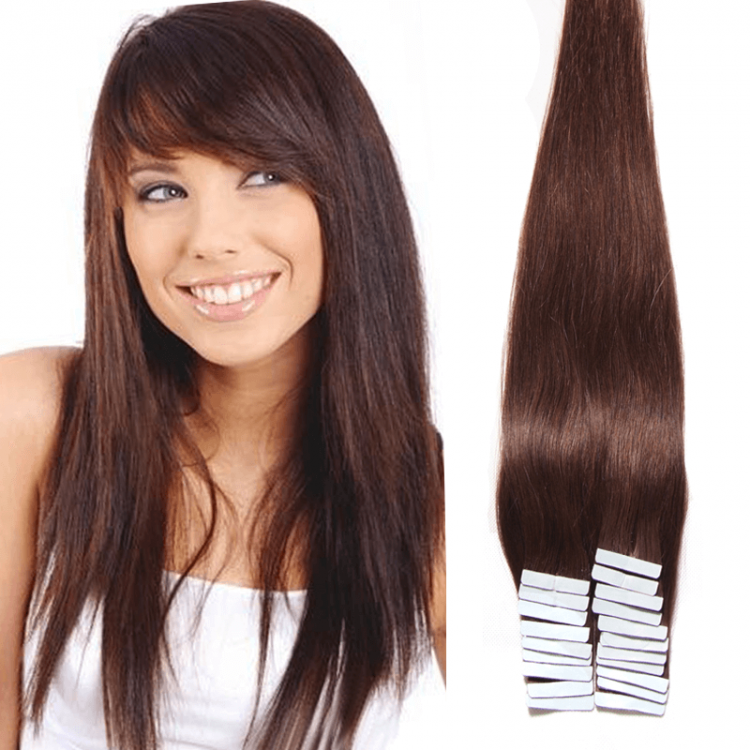 Peruvian 50g Straight Taping In Human Virgin Hair Extensions