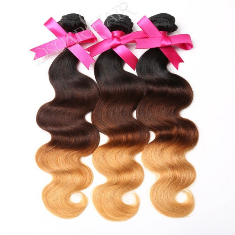 3 Bundles Ombre Body Wave weft