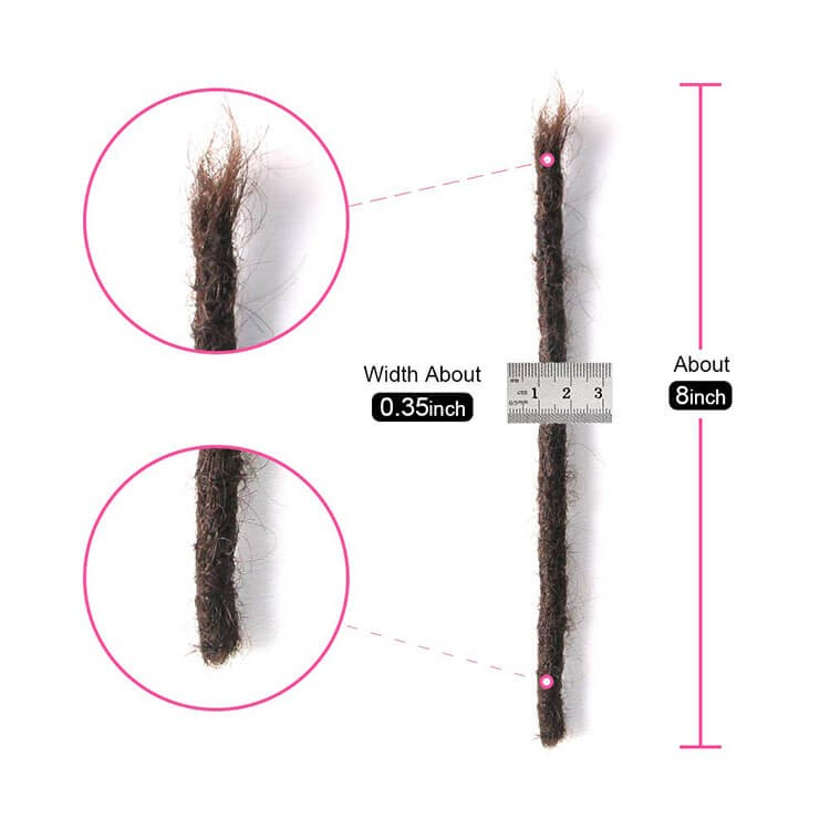 8 inch dreadlock extensions