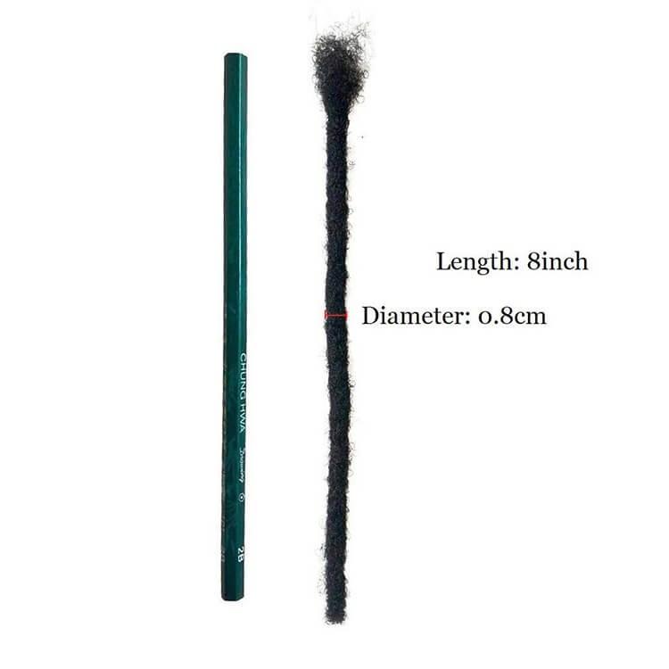 8 inch human hair dreadlock extensions