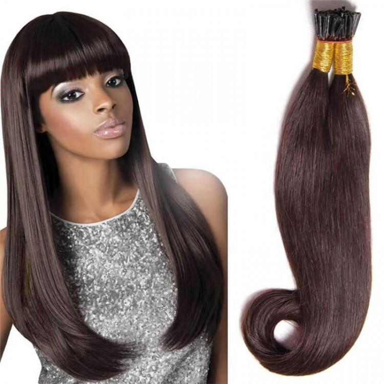 DSoar Hair 50g Peruvian Straight Human Virgin Hair Stick Tip