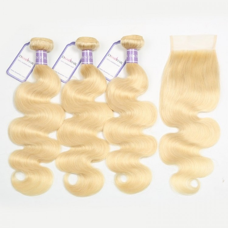 Peruvian Hair Body Wave 3 Bundles With Closure