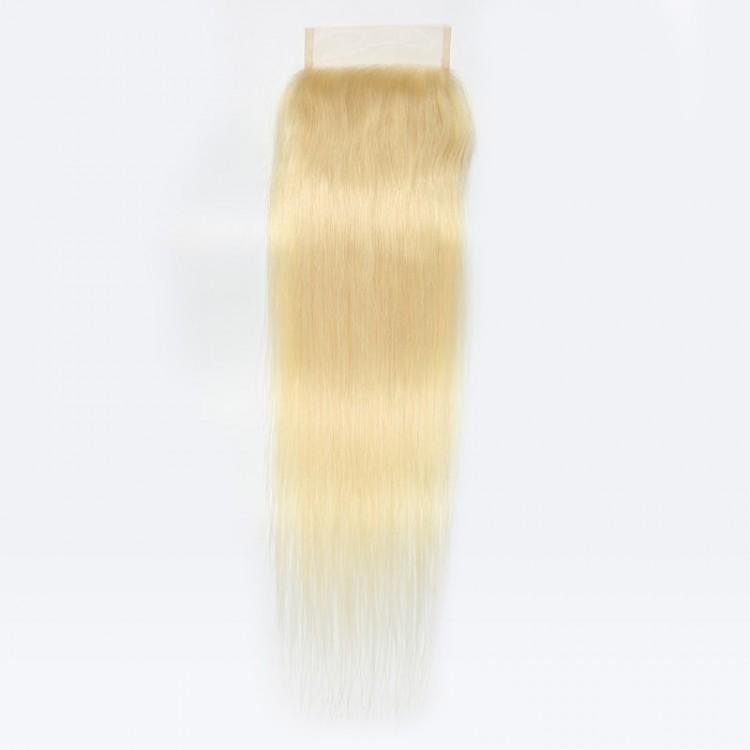 platinum blonde weave bundles with lace closure
