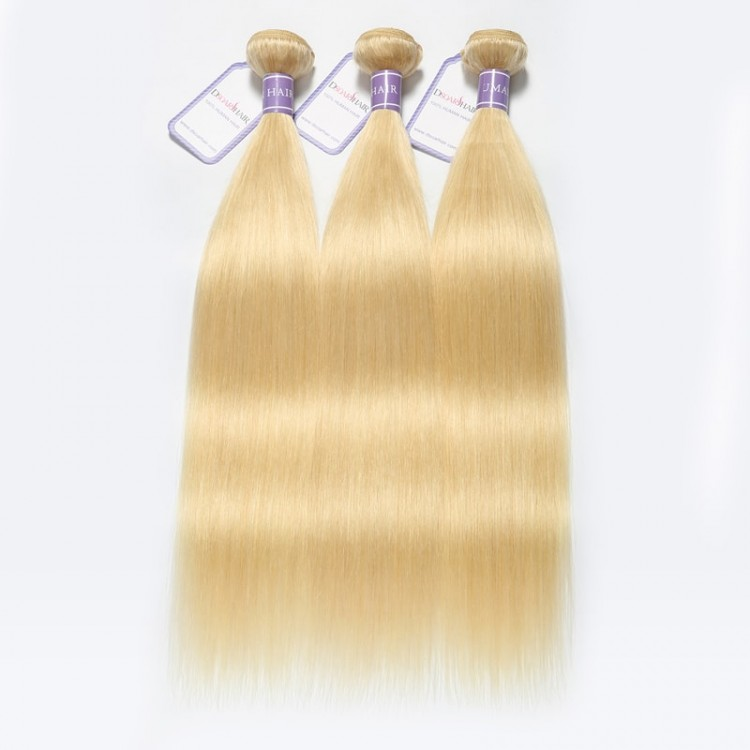 blonde hair straight
