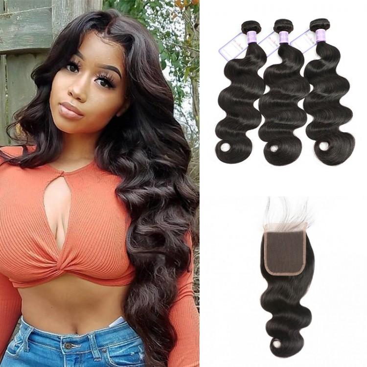 Peruvian 5x5 body wave hair bundles