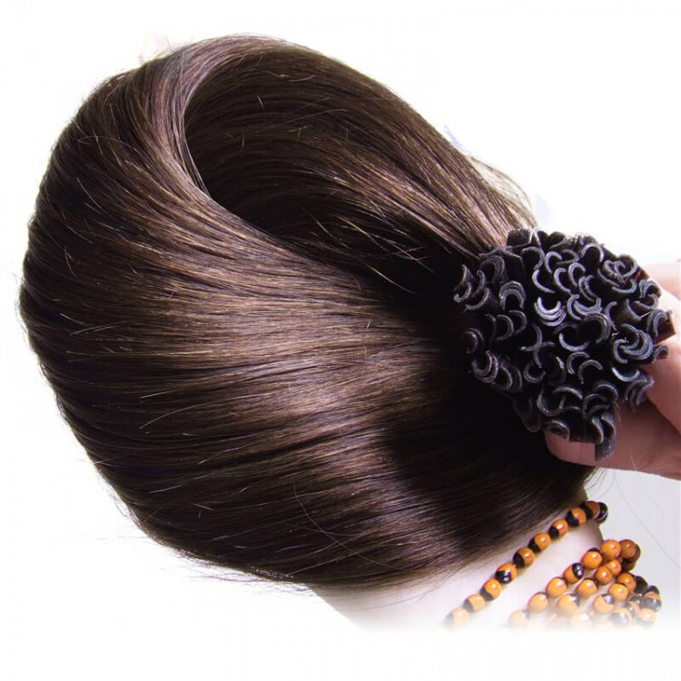 100% Brazilian Soft Straight Remy Hair 50g/pack U Tip Extension