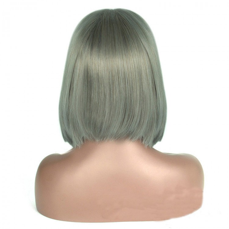 Middle Part #2 Full Lace Blunt Bob Style Wigs