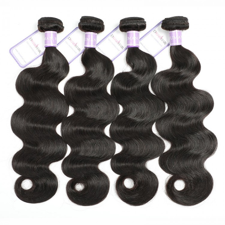 4 bundles Indian remy body wave hair