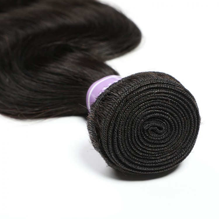 Brazilian body wave hair bundles with closure