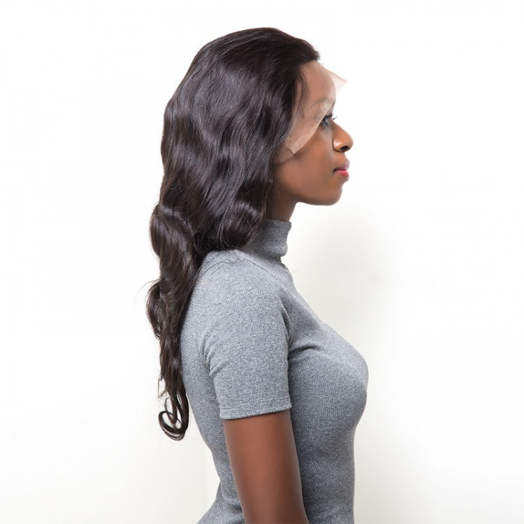 Body Wave Hand Tied Lace Front Wig With Baby Hair Human Hair
