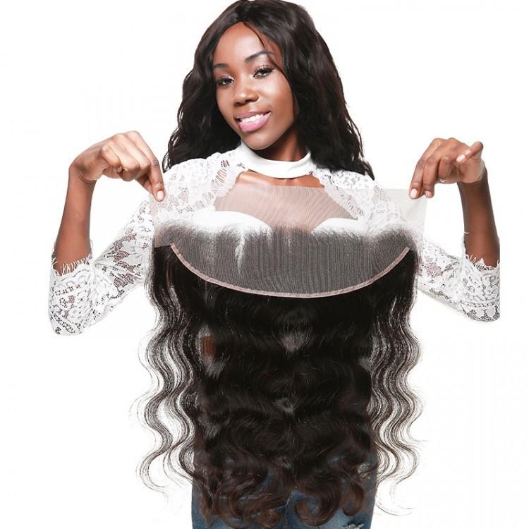 Natural Black Body Wave Hair Lace Frontal Closure