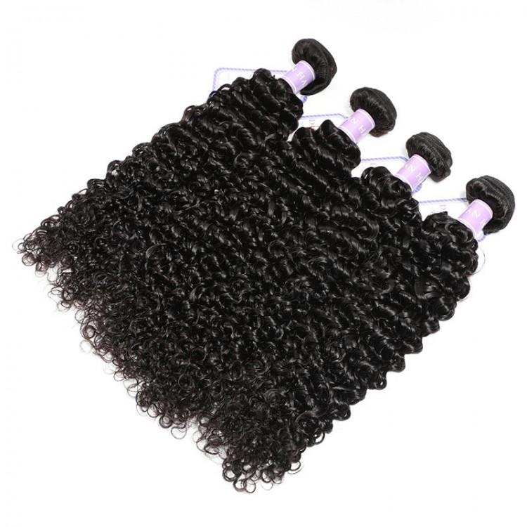4 bundles curly hair