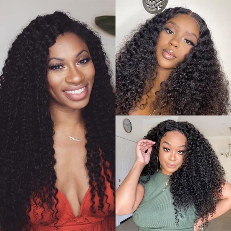 Curly u part wig