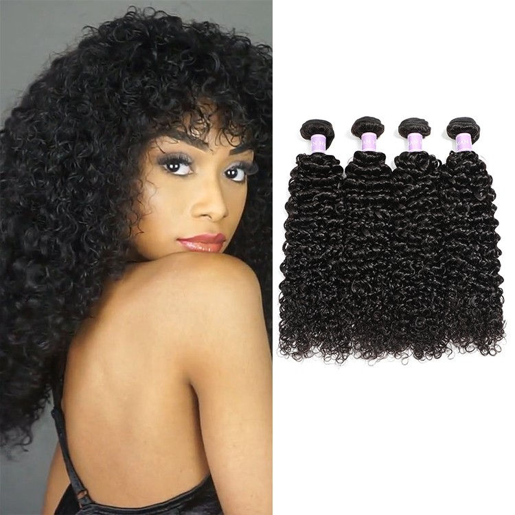 curly weave human hair extensions 4 bundles