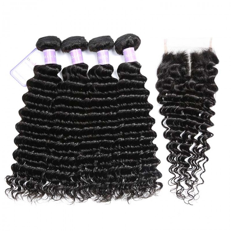 hair bundle deals with closure