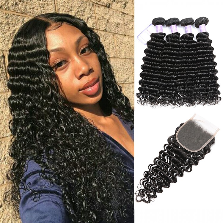 DSoar Hair Deep Wave Indian Remy Human Hair Weave