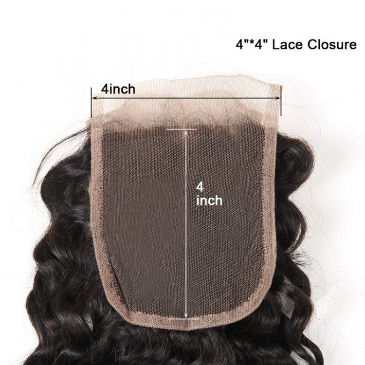 Deep Wave human Hair lace closure