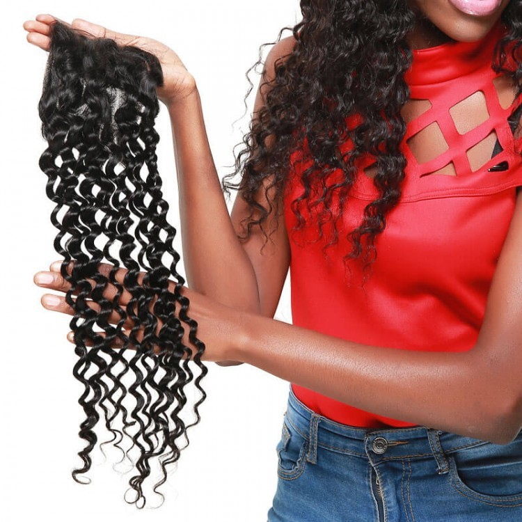 brazilian human hair lace closure