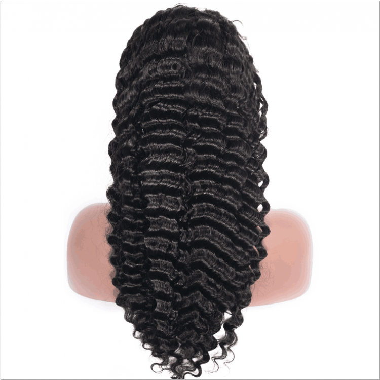 Deep Wave Virgin Hair Full Lace Wig