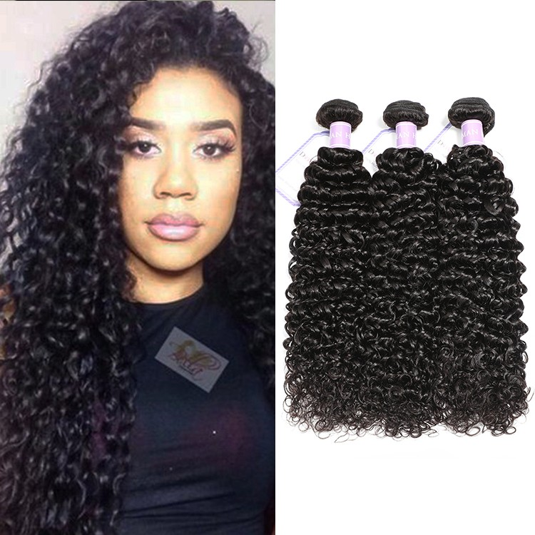 DSoar Hair 3 Bundles Peruvian Curly Virgin Hair Weave