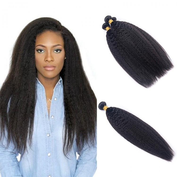 DSoar Hair Kinky Straight Bundles 4PcsLot Human Hair Weave