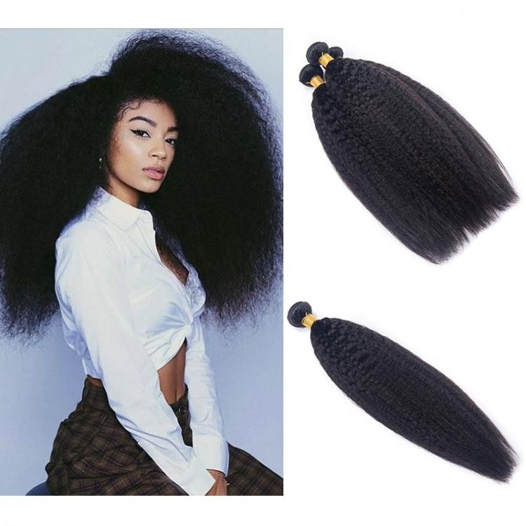 DSoar Hair Malaysian Kinky Straight Hair 4 Bundle Deals
