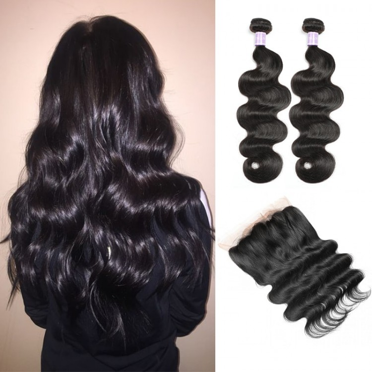 DSoar Hair Peruvian 2 Bundles Body Wave Virgin Human Hair
