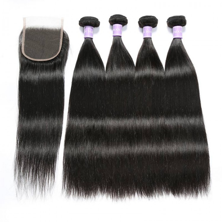 Indian remy hair with closure