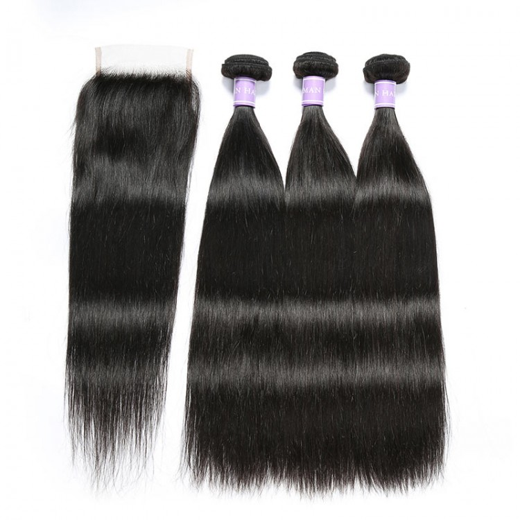 straight weave with closure