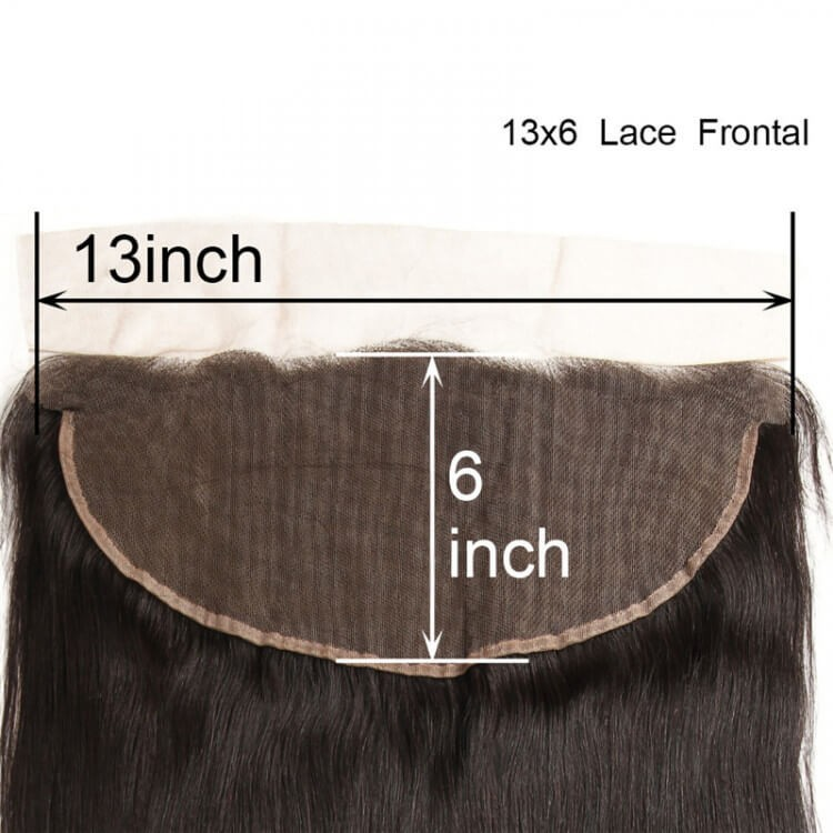 straight 13x6 lace frontal