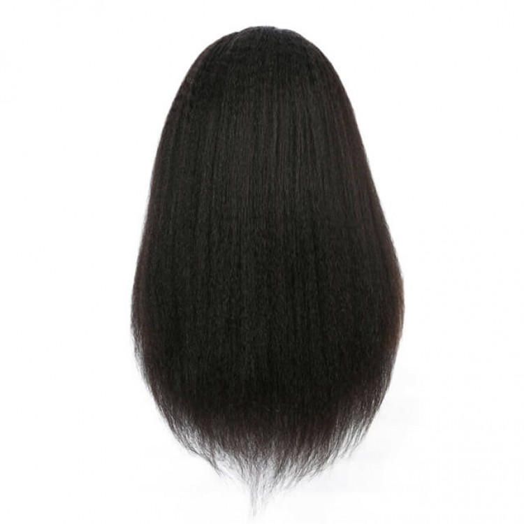 Kinky Straight 100 Human Lace Front Wigs