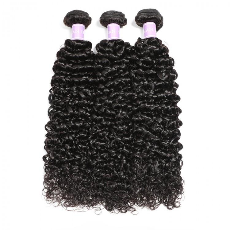 DSoar Hair Malaysian Curly Hair Weave 3 Bundles