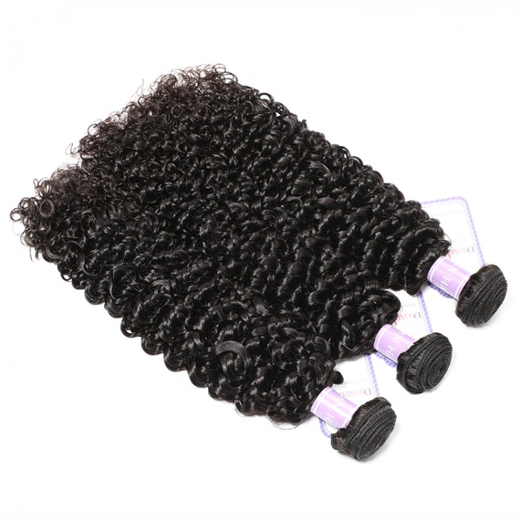curly weave human hair 3 bundles