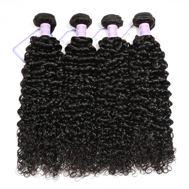 4 Bundles Indian Curly Human Hair