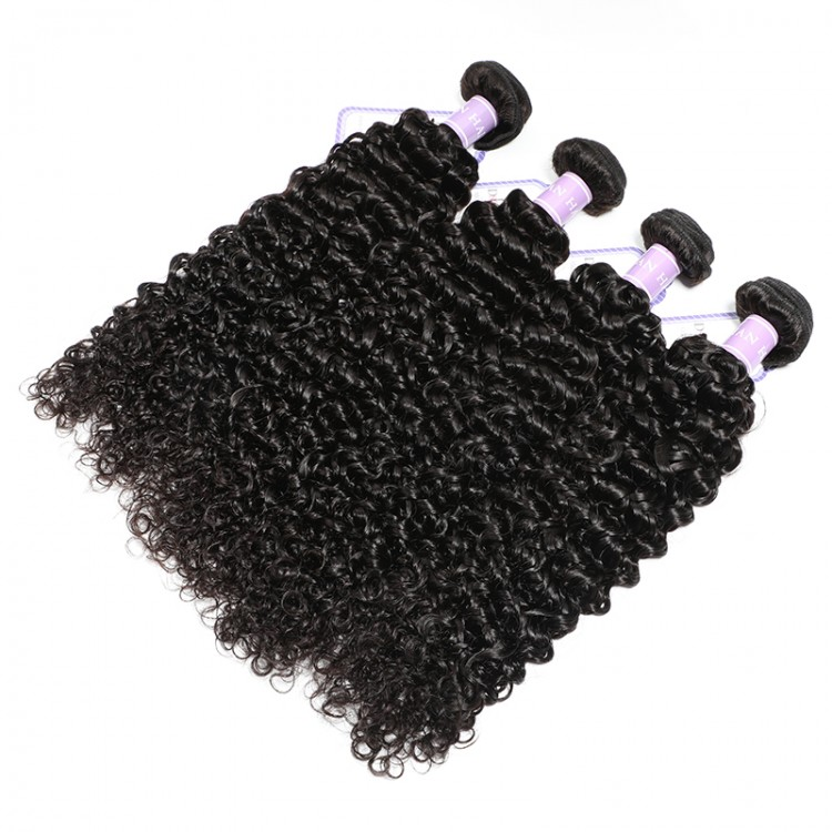 Brazilian virgin curly hair weave 4 bundles