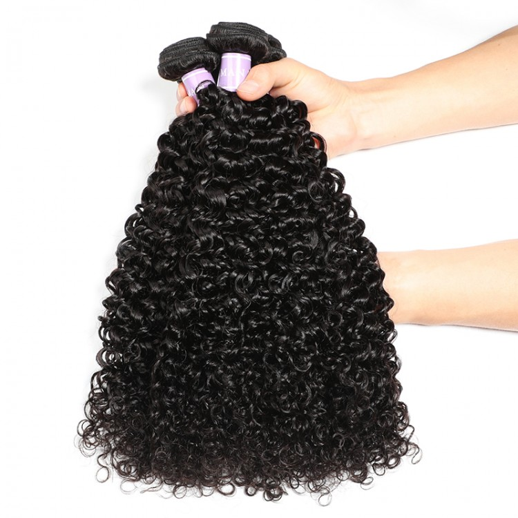 4 PCS Curly Human Hair