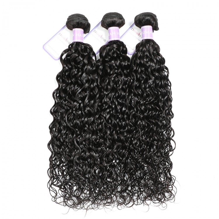 Natural Wave Weave Hair 3 Bundles With Lace Closure