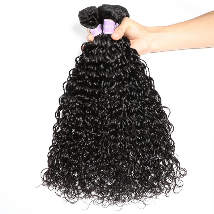 DSoar Hair Virgin Peruvian Natural Wave Lace Frontal 13x4 With 4 Bundles