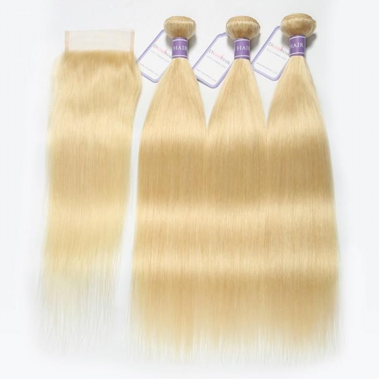 613 Blonde Bundles With Closure