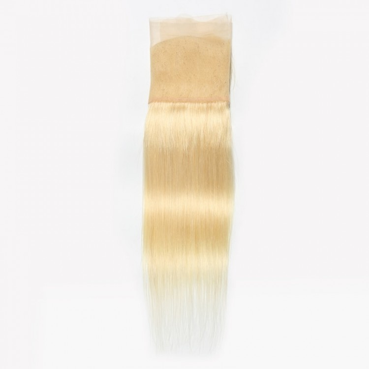 Blonde Straight Hair 4 Bundles With Lace Frontal